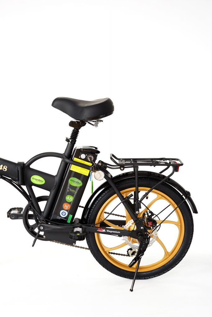 E-Bike 2018 City Hybrid Black and Gold