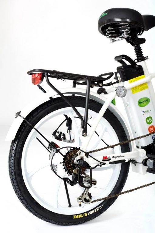 2018 City Hybrid All White E-Bike by Greenbike