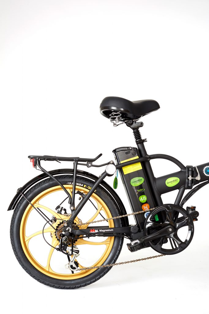 GreenBike E-Bike 2018 City Hybrid Black and Gold