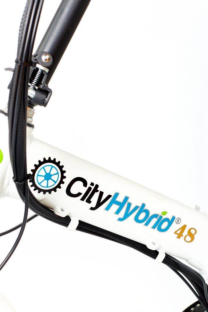 2018 City Hybrid 48 All White E-Bike