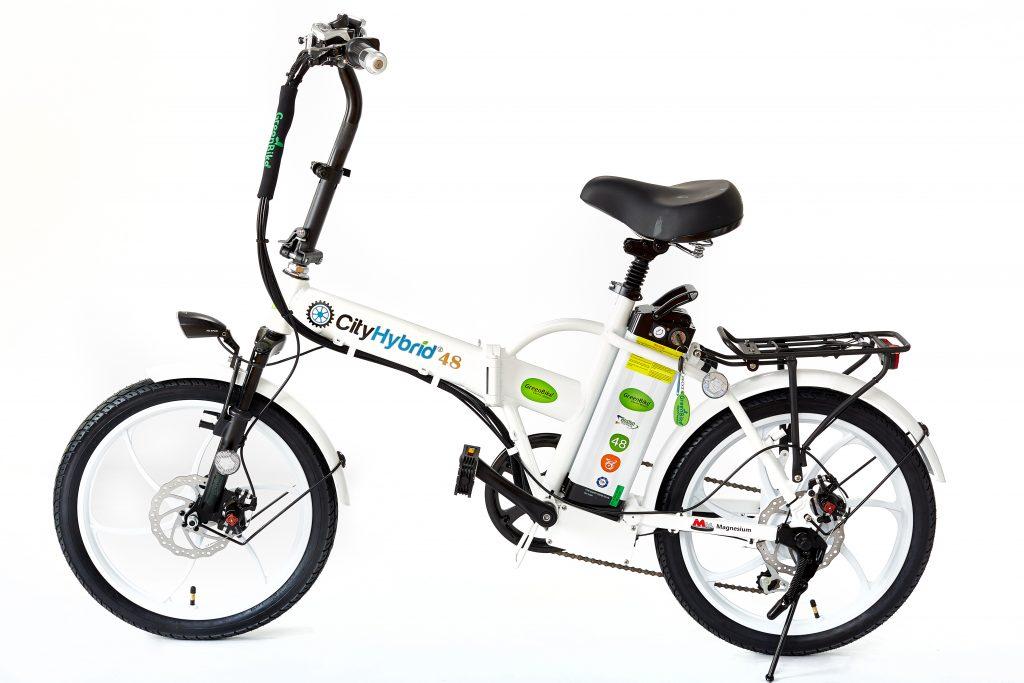 2018 City Hybrid All White Electric Bike
