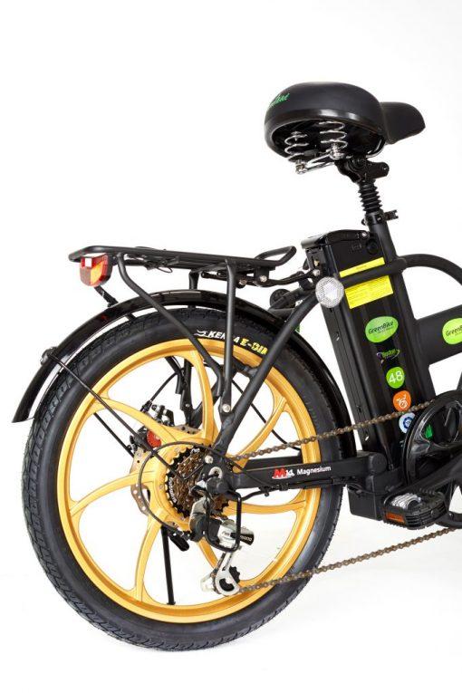 2018 City Hybrid Black and Gold E Bike