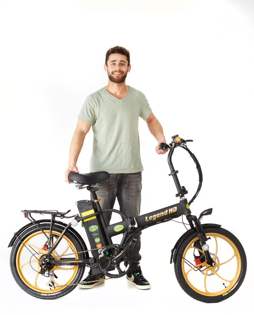 man with 2018 Legend HD E-Bike