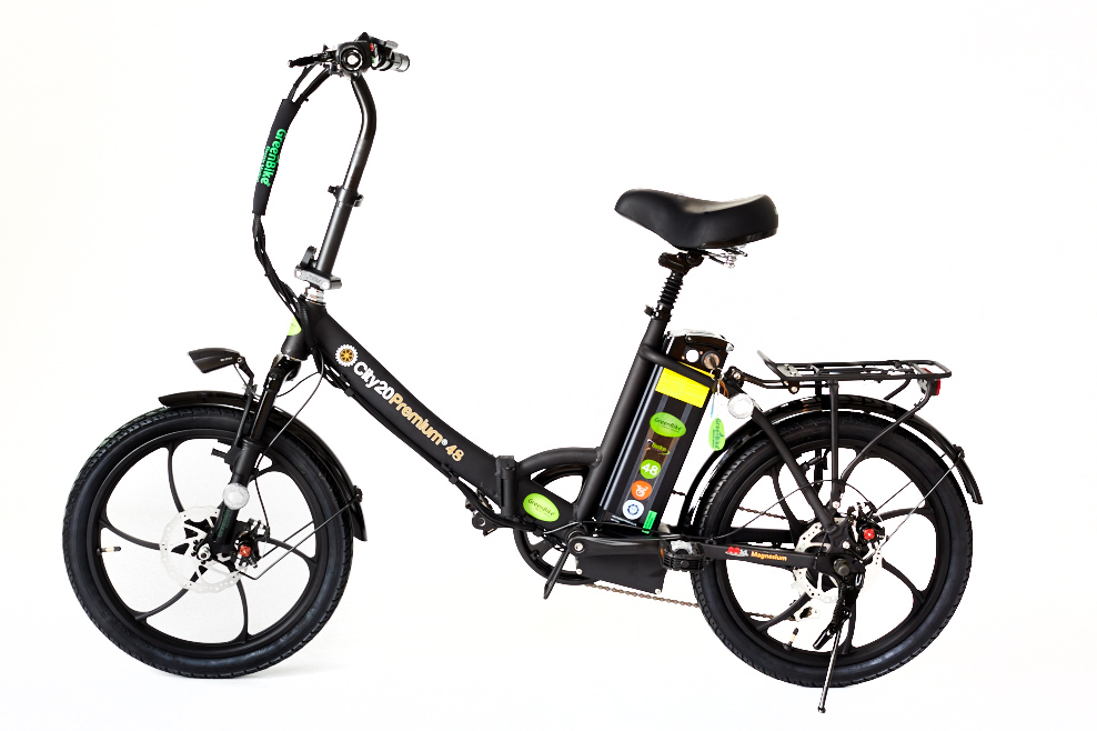 2018 City Premium All Black E bike Greenbike