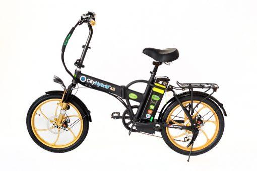 Buy online 2018 City Hybrid Black and Gold E-Bike