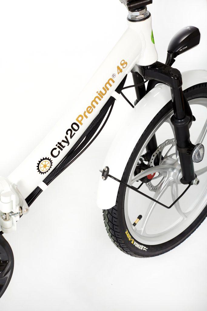 2018 City20 Premium White and Silver Ebike