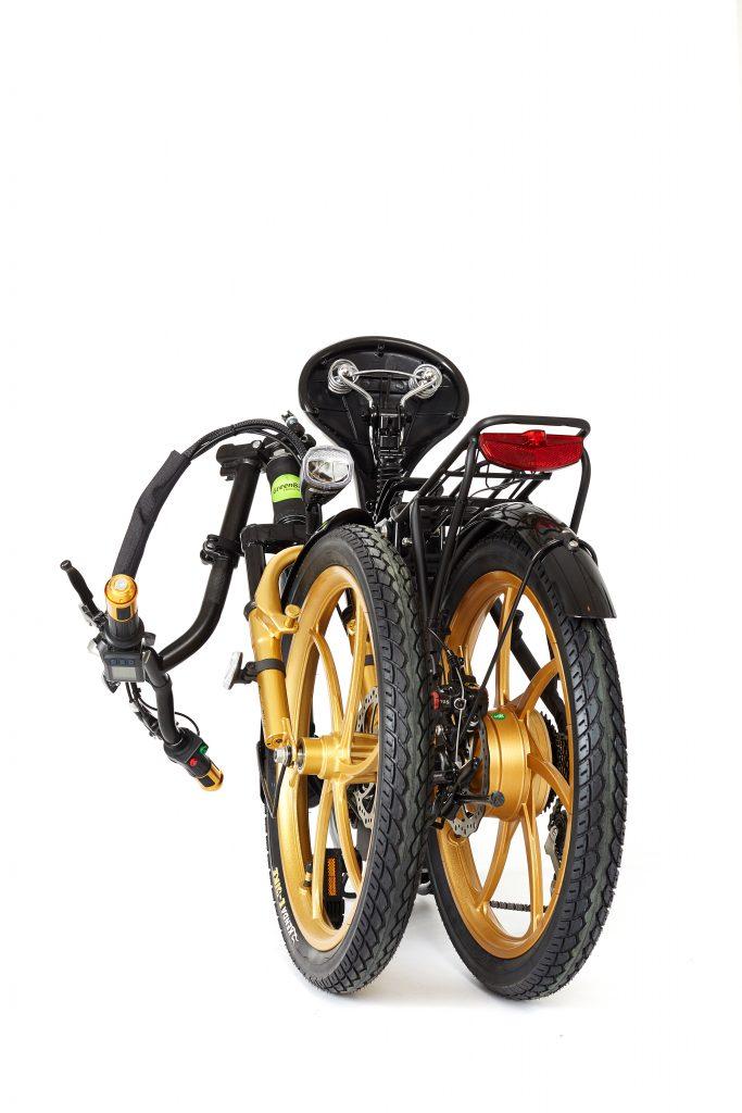 Foladable 2018 City Premium Black and Gold E-Bike