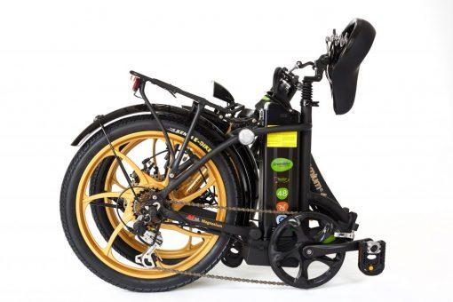 2018 City Premium Black and Gold Fold E-Bike