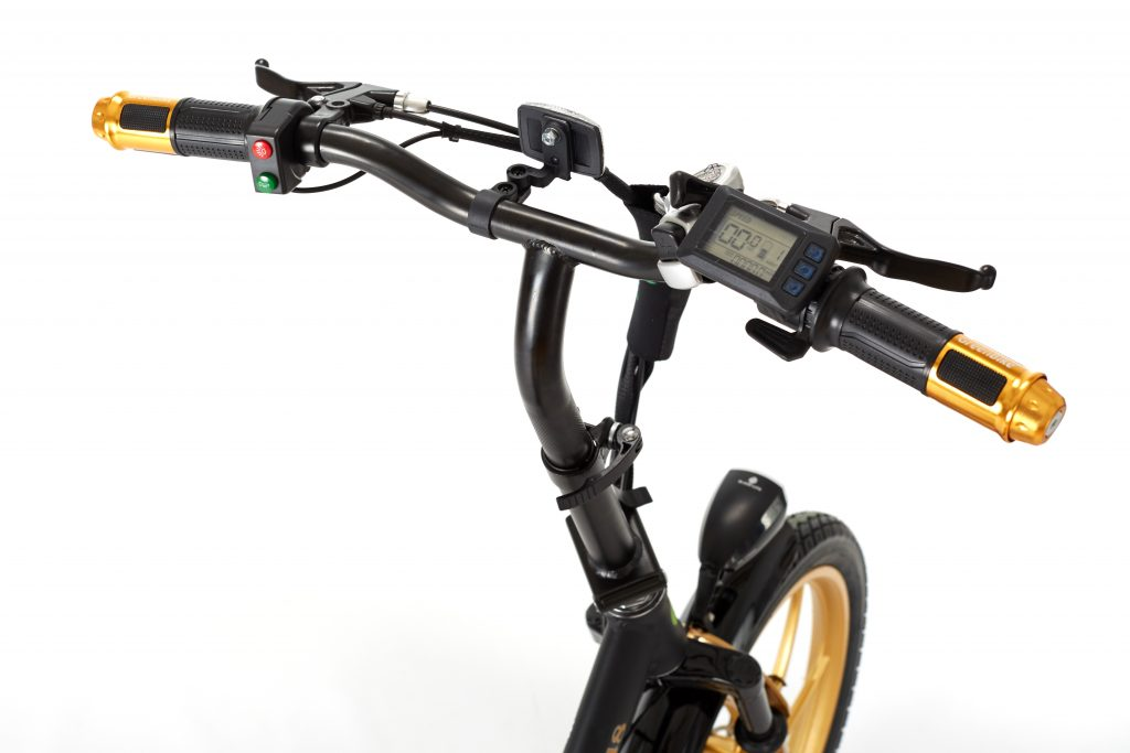 City Premium Black & Gold E-Bike LCD