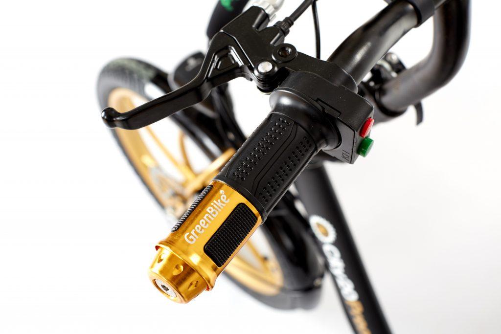 greenbike 2018 City Premium Black and Gold E-Bike