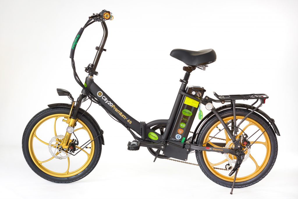 Best 2018 City Premium Black and Gold E-Bike
