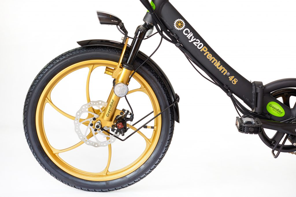 2018 City Premium Black and Gold E-Bike Powermove