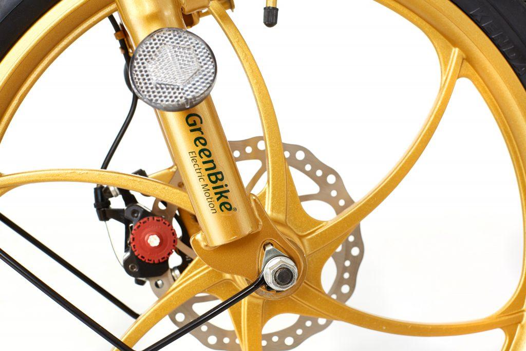 2018 City Premium Black and Gold E-Bike Wheel
