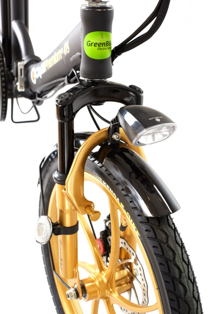 2018 City Premium Black and Gold E-Bike Lights