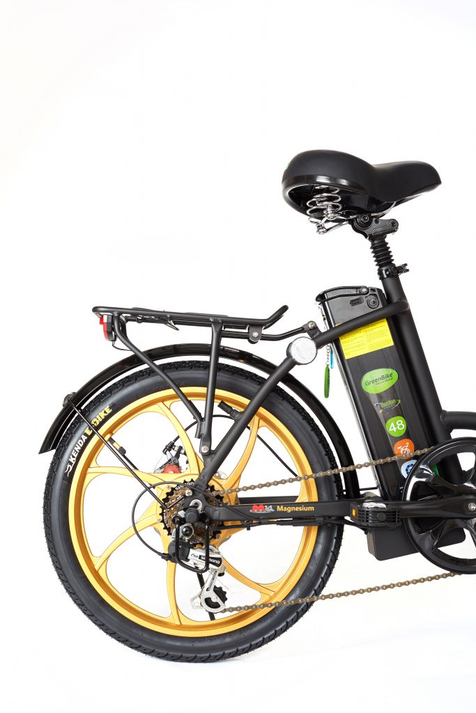 Greenbike 2018 City Premium Black and Gold E-Bike