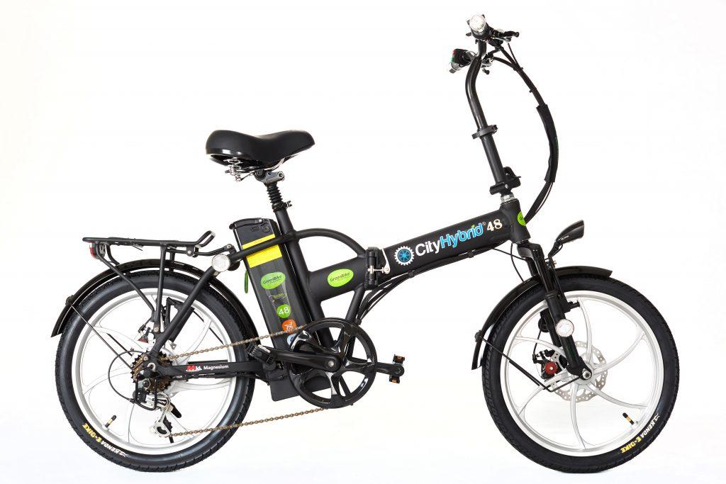 2018 City Hybrid Black and Silver Bike