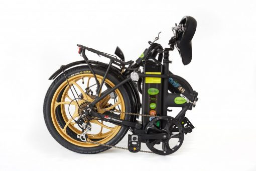 2018 City Hybrid Black and Gold Bike by Greenbikes