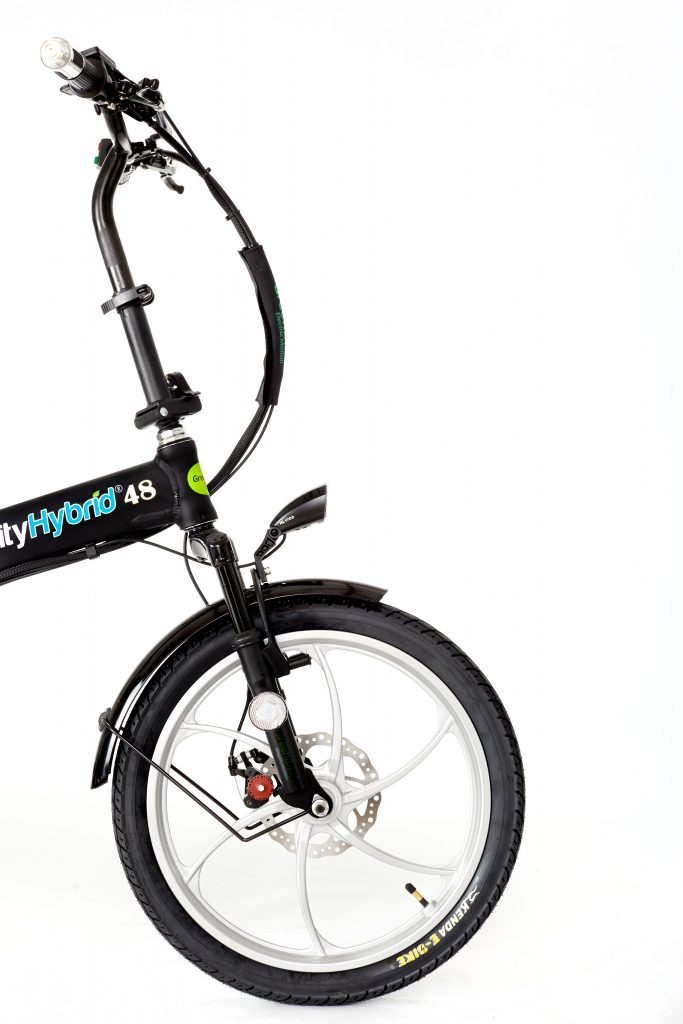 City Hybrid Black and Silver E-Bike 2018