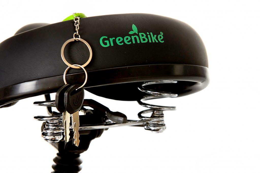 greenbike Logo on E-bike and Key Chain