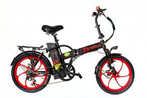 GreenbIke Toro Black/Red Folding E Bike