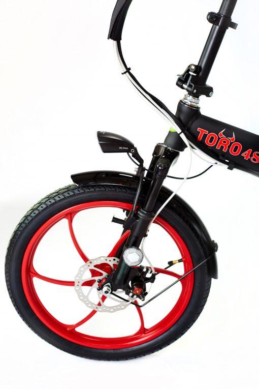 GreenbIke Toro Black/Red Folding E Bike